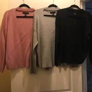 3 sweaters from forever 21